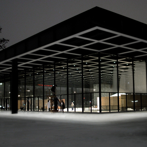 ludwig mies van der rohe the classic in the neue nationalgalerie of berlin architexts association. Black Bedroom Furniture Sets. Home Design Ideas